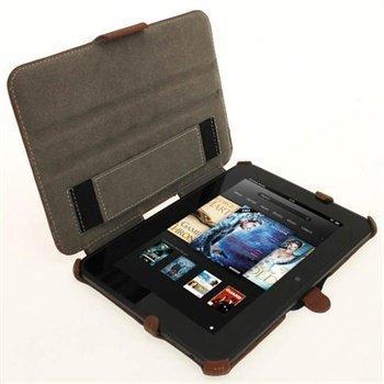 Amazon Kindle Fire HD 7 iGadgitz Nahkakotelo Ruskea
