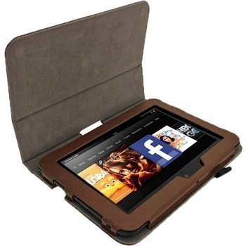Amazon Kindle Fire HD 7 iGadgitz Portfolio Nahkakotelo Ruskea