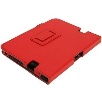 Amazon Kindle Fire HD 7 iGadgitz Portfolio PU-Nahkakotelo Punainen