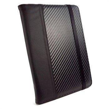 Amazon Kindle Fire HD 8.9 4G LTE Tuff-Luv Slim-Stand Nahkakotelo Musta