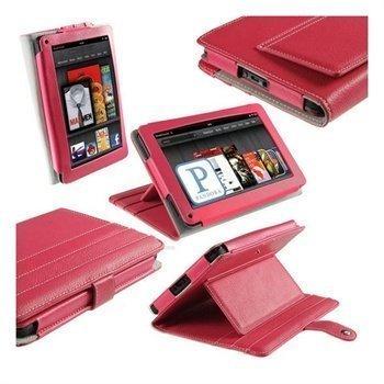 Amazon Kindle Fire iGadgitz Nahkakotelo Vaaleanpunainen