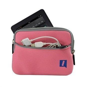 Amazon Kindle Fire iGadgitz Neopreenilaukku Vaaleanpunainen