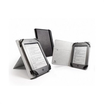Amazon Kindle Touch Tuff-Luv Book-Stand Nahkakotelo Musta