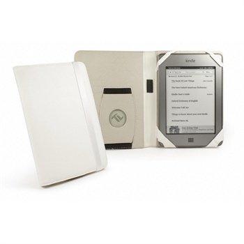 Amazon Kindle Touch Tuff-Luv Book-Style Embrace Nahkakotelo Valkoinen