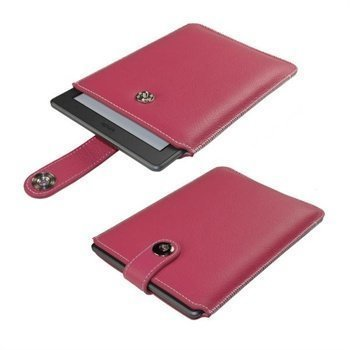 Amazon Kindle Touch iGadgitz Luxury Nahkakotelo Pinkki