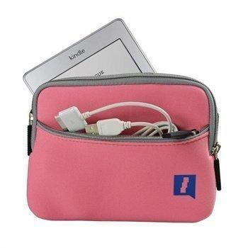 Amazon Kindle Touch iGadgitz U1230 Neopreenikotelo Vaaleanpunainen