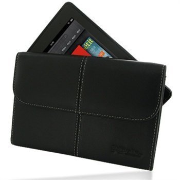 Amazon Kindle fire PDair Leather Case 3BAMKFEX1 Musta