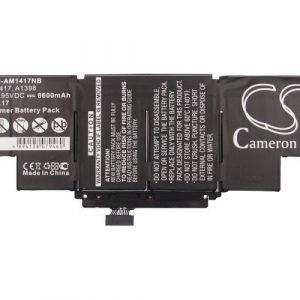 Apple Macbook Pro Core i7 15 tuumaa Retina 2013 akku 8600 mAh musta