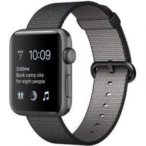 Apple Watch Series 2 42mm Alumininen Woven Nylon Ranneke Avaruuden Harmaa