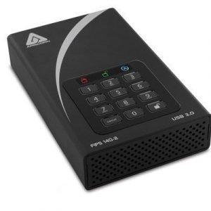 Apricorn Aegis Padlock Dt 2tb Usb 3.0 Desktop Drive 256-bit Fips 2tb Musta