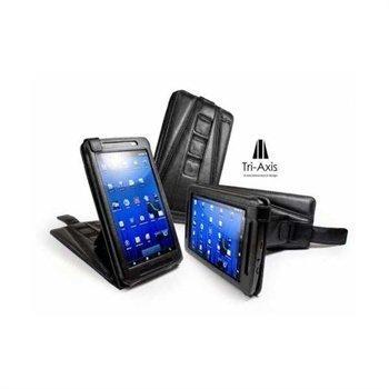 Archos 70 8GB 250GB Tuff-Luv Tri-Axis Faux Leather Case Black