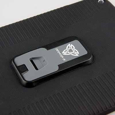 Armor-X Apple iPad Air 2 Rugged suojakotelo - Tummanharmaa