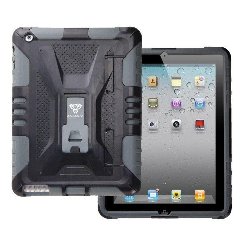 Armor-X iPad Mini Kestävä Suojakotelo X-Mount kiinnityksellä harmaa