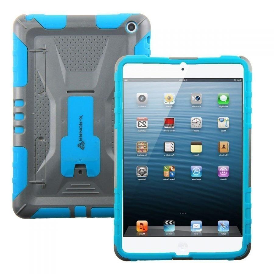Armor-X iPad Mini Kestävä Suojakotelo X-Mount kiinnityksellä sininen