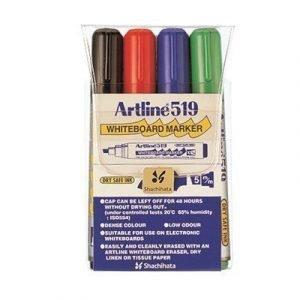 Artline Whiteboard Pen 519 4-set
