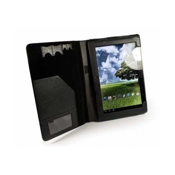 Asus Eee Pad Transformer Prime TF201 Tuff-Luv Leather Case & Stand Black
