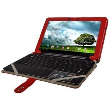 Asus Eee Pad Transformer Prime iGadgitz Leather Case Red