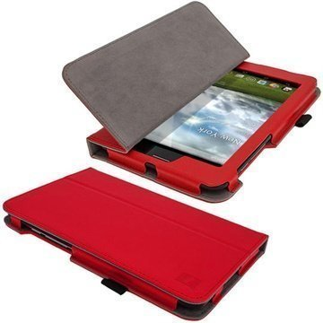 Asus Fonepad iGadgitz Ergo-Portfolio PU Leather Case Red