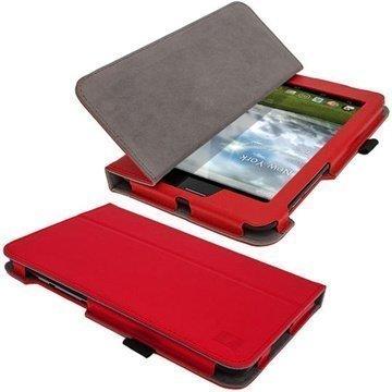 Asus Fonepad iGadgitz Ergo-Portfolio PU Leather Case Red
