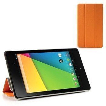 Asus Google Nexus 7 2 Tri-Fold Smart Nahkakotelo Oranssi