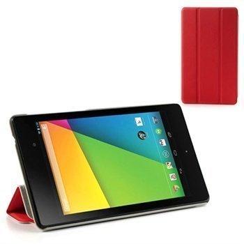 Asus Google Nexus 7 2 Tri-Fold Smart Nahkakotelo Punainen