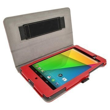 Asus Google Nexus 7 2 iGadgitz Ergo-Portfolio Leather Case Red