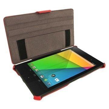 Asus Google Nexus 7 2 iGadgitz Leather Case Red
