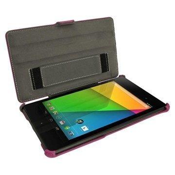 Asus Google Nexus 7 2 iGadgitz Nahkakotelo Violetti
