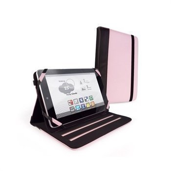 Asus Google Nexus 7 Amazon Kindle Fire Tuff-Luv Slim-Stand Nahkakotelo Vaaleanpunainen