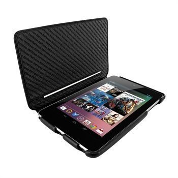 Asus Google Nexus 7 Piel Frama iMagnum2 Nahkakotelo Musta