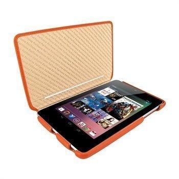 Asus Google Nexus 7 Piel Frama iMagnum2 Nahkakotelo Oranssi