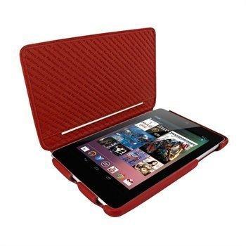 Asus Google Nexus 7 Piel Frama iMagnum2 Nahkakotelo Punainen