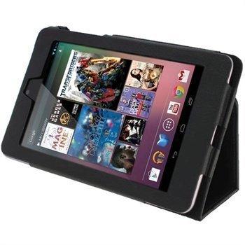 Asus Google Nexus 7 iGadgitz Ergo-Portfolio PU-Nahkakotelo Musta