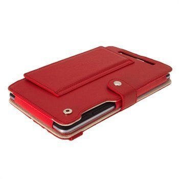Asus Google Nexus 7 iGadgitz Guardian Tri-view Leather Case Red