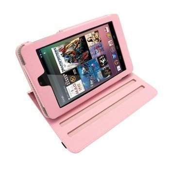 Asus Google Nexus 7 iGadgitz Nahkakotelo Pinkki