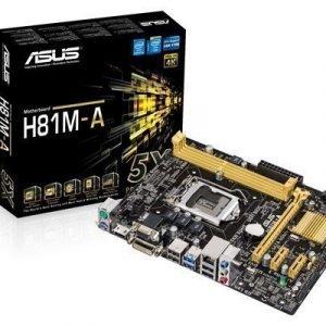 Asus H81m-a Lga1150 Pistoke Mikro Atx