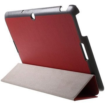 Asus Memo Pad 10 ME103K Tri-Fold Smart Kotelo Punainen