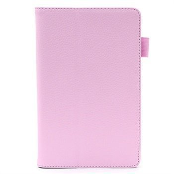 Asus Memo Pad ME172V Folio Nahkakotelo Vaaleanpunainen