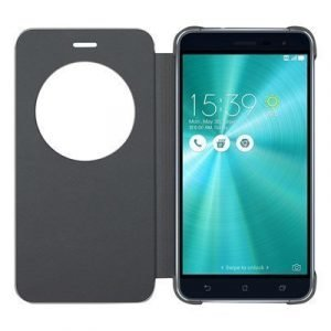 Asus View Flip Cover Läppäkansi Matkapuhelimelle Asus Zenfone 3 Musta