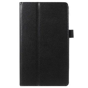 Asus ZenPad C 7.0 Z170MG Kuvioitu Kannellinen Nahkakotelo Musta