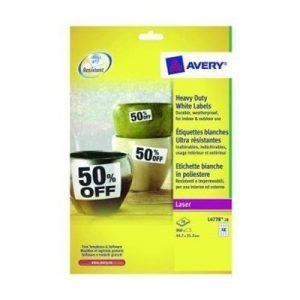 Avery Heavy Duty Laser Labels