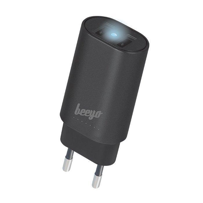 Beeyo USB laturi 2 x USB + 1 5m microUSB kaapeli - 3.4A - Musta