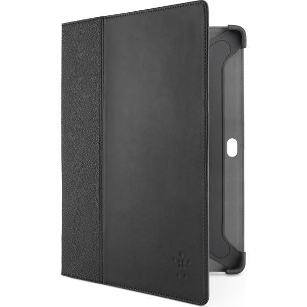 Belkin Cinema tekonahkasuojus Galaxy Tab 2 10.1 malliin +tuki musta