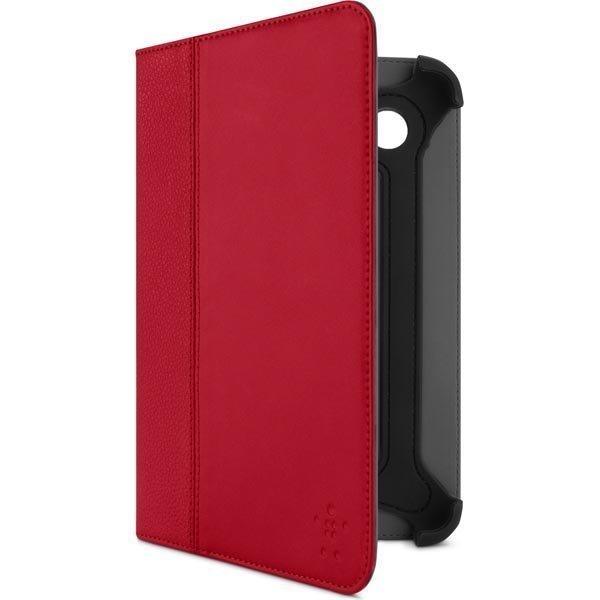 Belkin Cinema tekonahkasuojus Galaxy Tab 2 7.0 malliin +tuki punaine