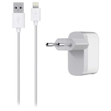 Belkin Lightning Single Microkaapeli Laturi iPhone 6S Plus iPad Mini 4 Valkoinen