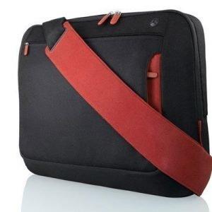 Belkin Messenger Bag For Notebooks Up To 17 17tuuma Polyesteri Musta Punainen