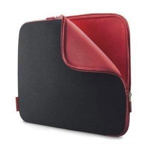 Belkin Neoprene Sleeve For Notebooks Up To 14 14tuuma Neoprene Musta Punainen