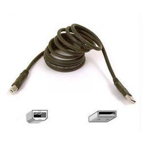 Belkin Pro Series Hi-speed Usb 2.0 Device Cable 4-nastainen Usb Tyyppi A Uros 4-nastainen Usb Tyyppi B Uros Musta Usb / Usb 2.0 3m