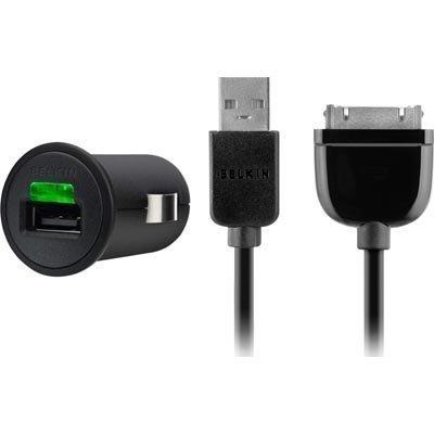 Belkin autolaturi USB-kaapeli Galaxy Tab 2 1A 0 9m musta