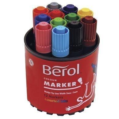 Berol BEROL Colourmarker kuitukärkikynä 12 väriä